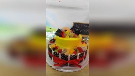【双层水果蛋糕】双层水果蛋糕制作过程