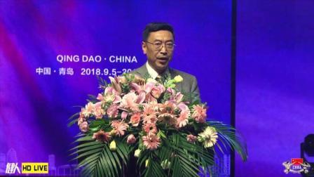 青岛市体育总会专职副主席李国立致贺词