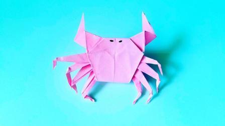折纸王子折纸螃蟹s, 小朋友很喜欢的手工