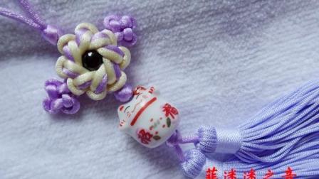 用双联结、桂花结、团锦结编的中国结小吊饰, 好看好学