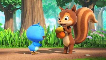 萌鸡小队:欢欢告诉松鼠它们要做生日蛋糕给妈妈,不能说出去哦!