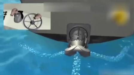 游轮上涡轮式喷射水射流发动机模型原理!