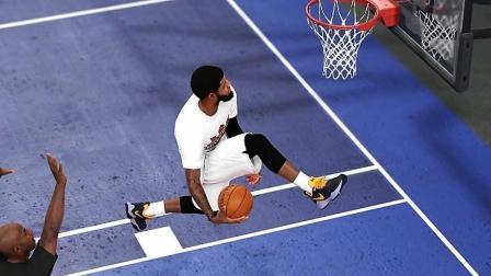NBA2K19保罗乔治胯下灌篮! 乔治 VS 科比【名人堂最高难度单挑】