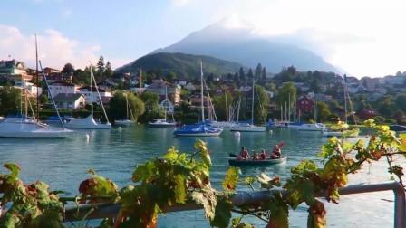 航拍瑞士, 著名旅游胜地因特拉肯, 阿方环球旅行之十七