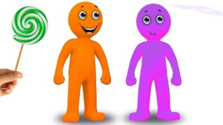 小章鱼糖果追逐小男孩的棒棒糖儿童英语abc少儿英语abc