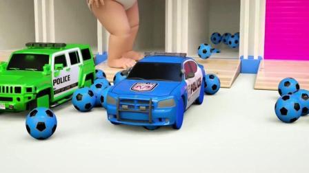 幼儿色彩启蒙, 和萌宝一起用五彩足球 玩具汽车学习颜色识英语