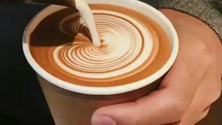 千层心形咖啡拉花技巧教程视频