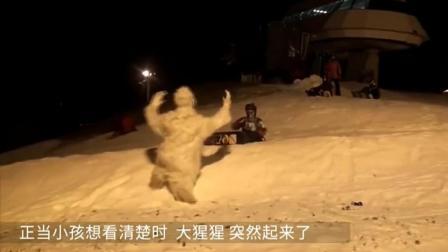 滑雪场突然发现这家伙你会怎样  老外恶作剧, 整个滑雪场疯了