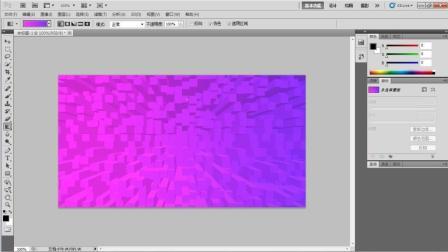 Photoshop, PS教程教学, 3步做出立体背景