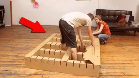 德国人用纸做床22个人站上去都没事