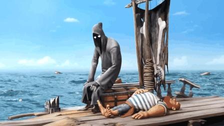 口渴的水手在大海上等待死亡, 没成想死神出现救了自己一命!