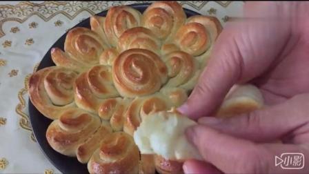 早餐面包新做法, 不用揉出手膜也能蓬松柔软, 看完能学会