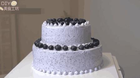 「烘焙教程」蓝莓双层蛋糕, 好吃不腻口