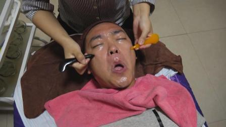 去足疗店做了一个面部护理, 面部拨筋这个疗法让我很煎熬