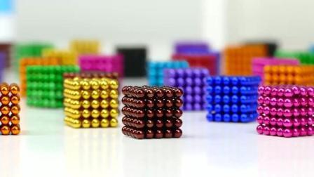 大神用数千颗彩色磁力巴克球砌成的正方体, 看着精致又漂亮!