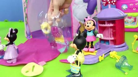 米老鼠到超级市场买衣服 过家家玩具