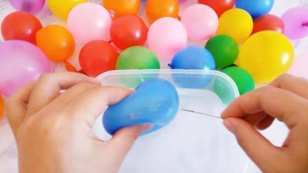 试过用针扎30多个气球泥吗? 无硼砂, 戳破的瞬间心情都变好啦