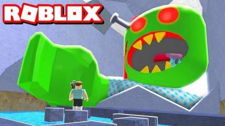 小格解说 Roblox 豪宅逃生: 大战巨型骷髅怪兽! 主人开着飞机追我? 乐高小游戏