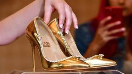 火龙果传媒 第一季 迪拜现世界最贵鞋子: 镶钻石贴黄金值1.17亿