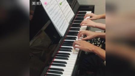 《欢乐进行曲》简单又好听的四手联弹完整版