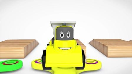 彩色指尖陀罗把小卡车变成各种形状