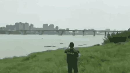 江西吉安赣江大桥成功爆破场面震撼