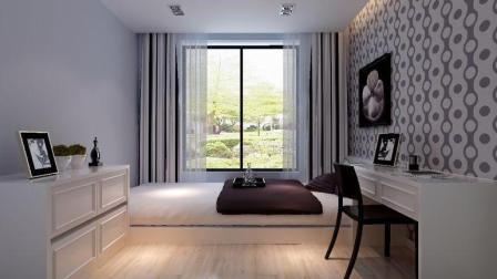温馨, 干净利落的现代简约风格装修样板间--王楠设计