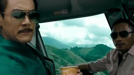 彭于晏和张涵予是真会玩, 坐个直升机还有这样的享受, 只可惜下面那个罪犯就难受喽
