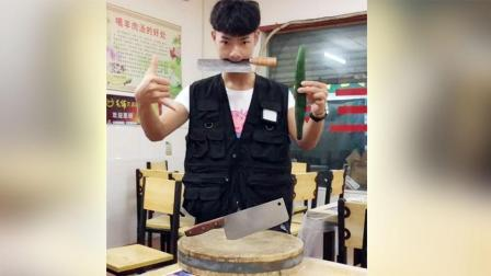 厨师刀功表演视频, 武汉这位小厨师火了, 没成想刀法好还真能揽客!