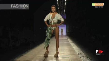 AGUA BENDITA 2018 伦敦春夏时装秀, 模特自信张扬, 气场强大!
