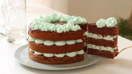 甜点美食DIY, 巧克力薄荷蛋糕的烘焙方法