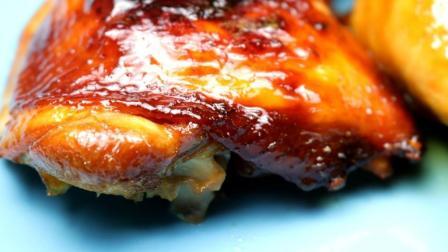 很简单, 烤箱制作蜜汁烤鸡腿, 皮脆肉嫩, 味透肌里, 下酒棒棒哒