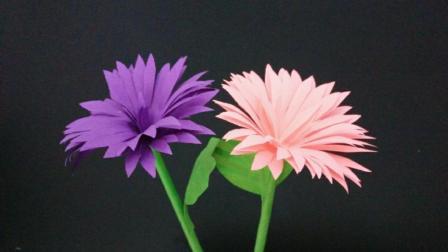 很漂亮的菊花朵, 幼儿园老师赶紧学一下教小朋友, 简单手工折纸