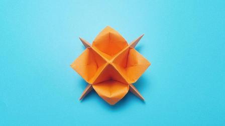 折纸王子折纸星星花, 小朋友很喜欢的手工