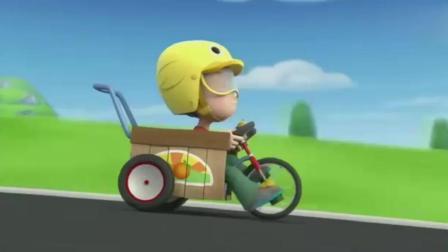 《汪汪队立大功》棒棒三轮车跑的太快了, 很危险!