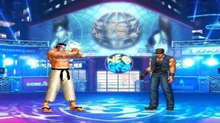 拳皇乱斗: 大门VS克拉克, 真男人的战斗就是要这么摔来摔去