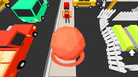 【小熙解说】滚球大作战 一个大圆球可以粘人粘车粘房子是怎么回事