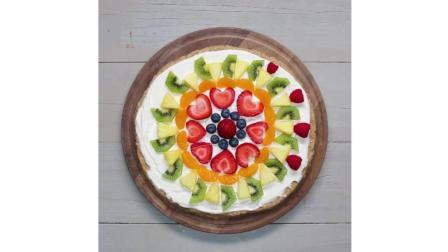 好吃又好做的水果披萨教程中文翻译, 做法简单, 水果百搭健康自然
