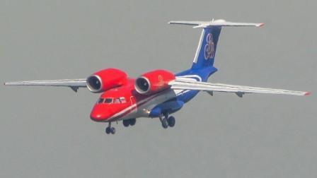 外形有点怪怪的飞机起降实拍, 设计师的心思不好猜呀