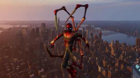 蜘蛛侠游戏: 蜘蛛侠红色作战服, 背生四爪, 高楼间跳跃! 第一部分