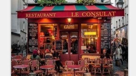 彩铅手绘马克笔风景——街景咖啡店
