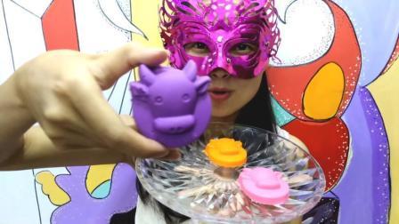 美食吃货: 面罩小姐姐吃彩色空心巧克力12星座金牛座 柔滑香甜