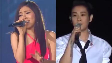 刘若英演唱会一袭白色衬衫, 翻唱《夜空中最亮的星》, 美丽而优雅