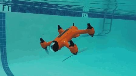 十一带个防水无人机去航拍, 能从天上直接拍到海下去
