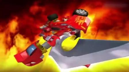 百变机兽之洛洛历险记: 卡通版关刀横扫千军 势不可挡