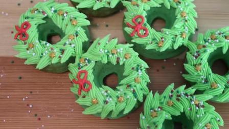 欢乐的气息在此绽放~圣诞花环甜甜圈