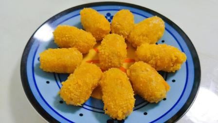 红薯新吃法, 简单一做, 做出来的甜点, 外脆里酥, 大人孩子都爱吃