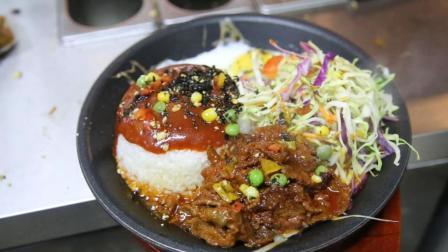 山东美女自己创业, 做韩式铁板饭2年, 有独家特调的酱料