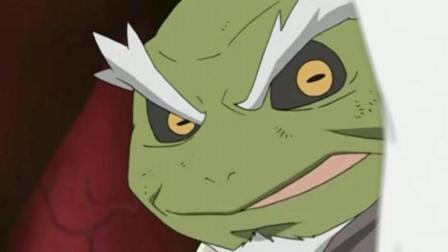 听到这青蛙还肯跟自己一起战斗, 自来也低着头说感激不尽