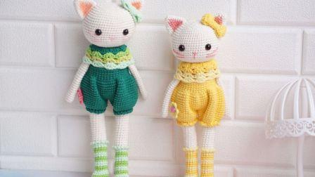 「第137集」萌系手作 上集小馨猫咪娃娃钩针玩偶娃娃头视频教程钩针毛线